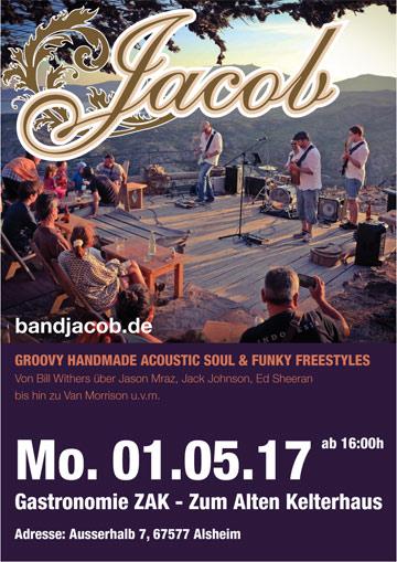 BAND JACOB am 01.05.17 Live im ZAK Zum Alten Kelterhaus Alsheim
