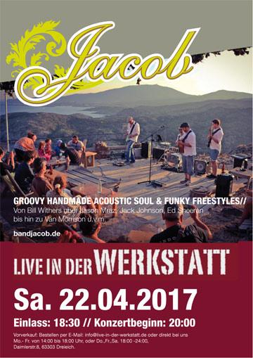 BAND JACOB am 22.04.17 Live in der Werkstatt